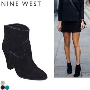 Nine west suede booties size 8
